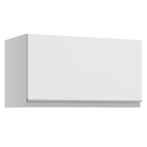 armário aéreo madesa glamy 1 porta suspensa - branco