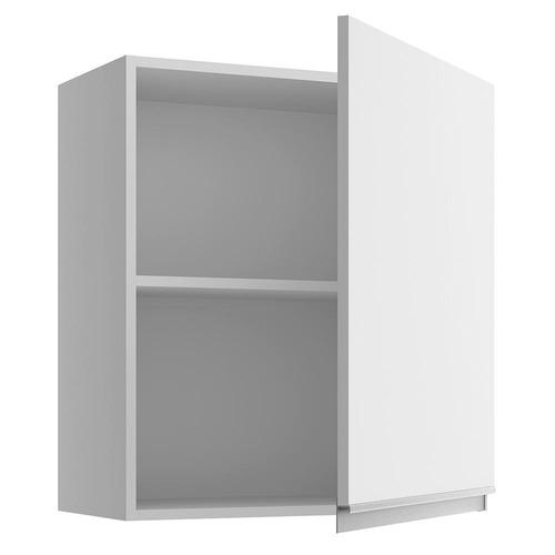 armário aéreo madesa glamy 60 cm 1 porta - branco