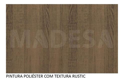 armário aéreo madesa glamy 80 cm 1 porta suspensa - rustic