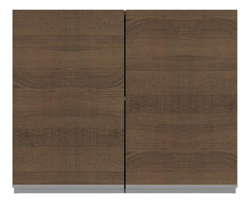 armário aéreo madesa glamy 80 cm 2 portas - rustic