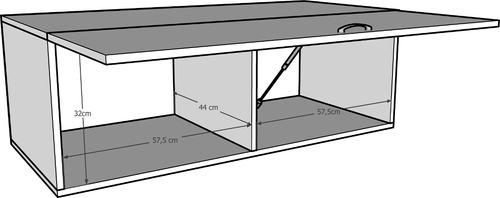 armário aéreo suspenso multiuso cozinha branco