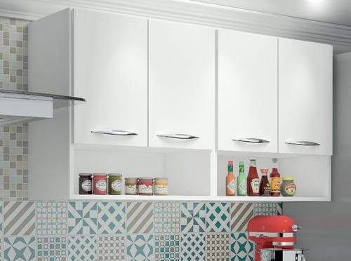 armário alto lavanderia multiuso 4 portas - frete grátis*