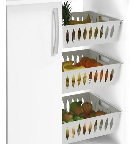 armário balcão cozinha 1 porta fruteira forno microondas mdp