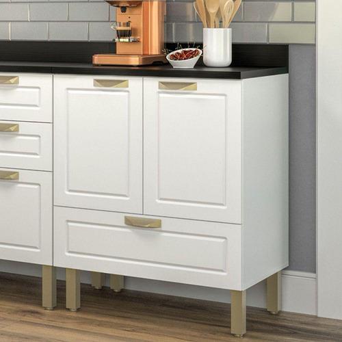 armário balcão cozinha 2 portas 1 gaveta 70cm com tampo