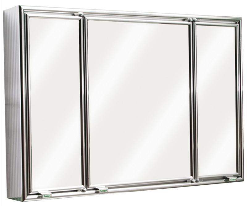 Armario Embutir Banheiro : Armario banheiro embutir aluminio sicmol r