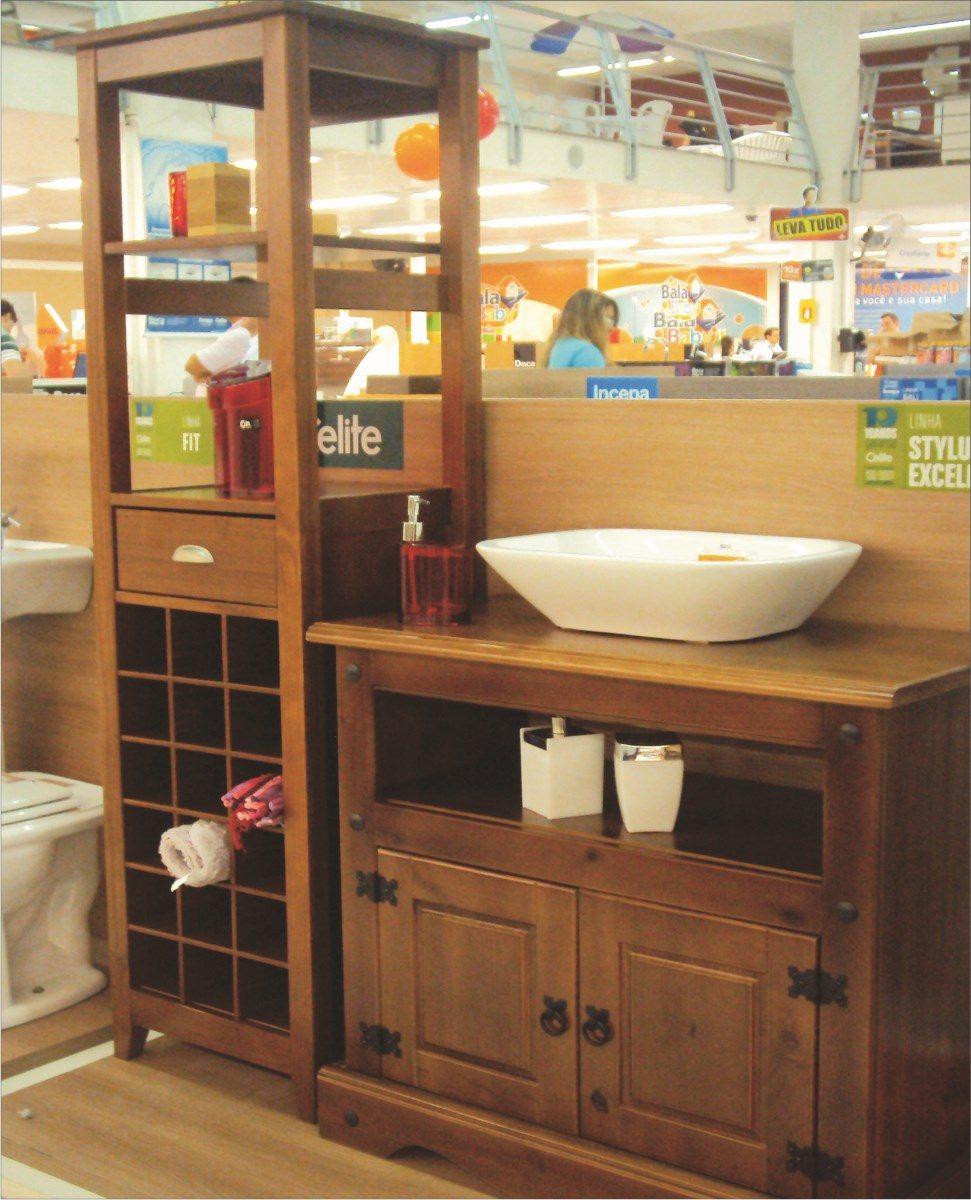 Armario Banheiro; Banheiro;moveis Para Banheiro;madeira  R$ 389,00 em Mercad -> Armario De Banheiro Com Cuba Mercado Livre