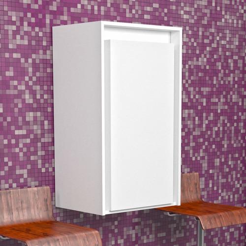 armário com mesa dobrável de parede isabela - branco