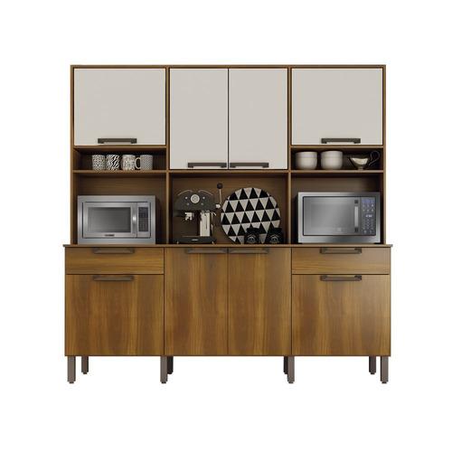armario cozinha c/ porta forno e microondas 8 portas imola