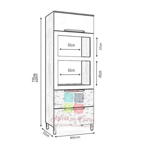 armário cozinha kappesberg solaris d649 torre fornos 80cm
