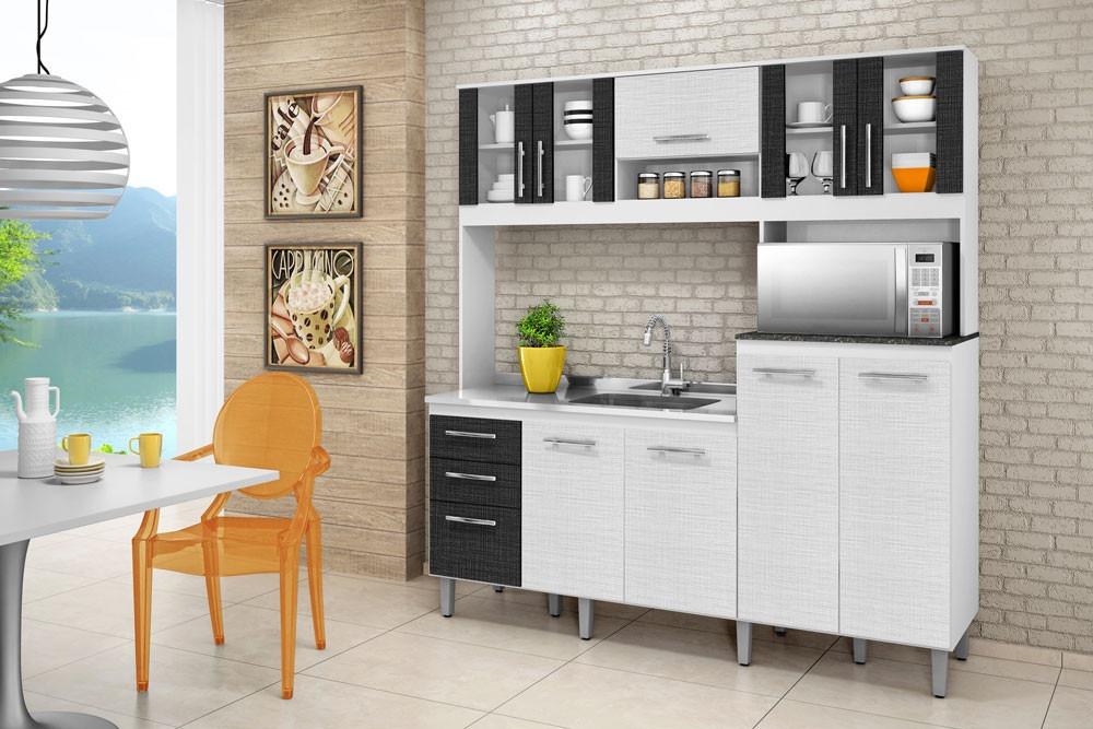 Adesivo De Moveis De Madeira ~ Armário Cozinha Para Pia 100% Mdf Branco Arezzo Nicioli R$ 899,00 em Mercado L