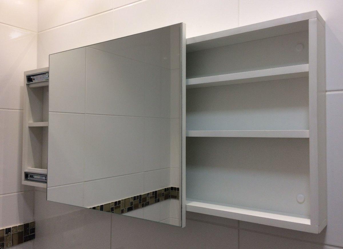 Adesivo Para Salao De Jogos ~ Armário De Banheiro Porta Espelhada Deslizante R$ 415,00