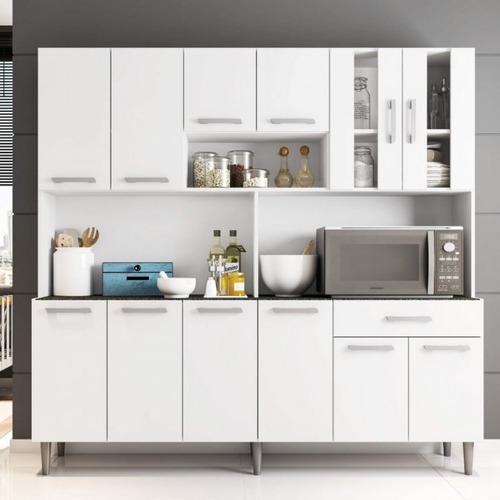 armário de cozinha 12 portas 1 gaveta clara poliman fcwt