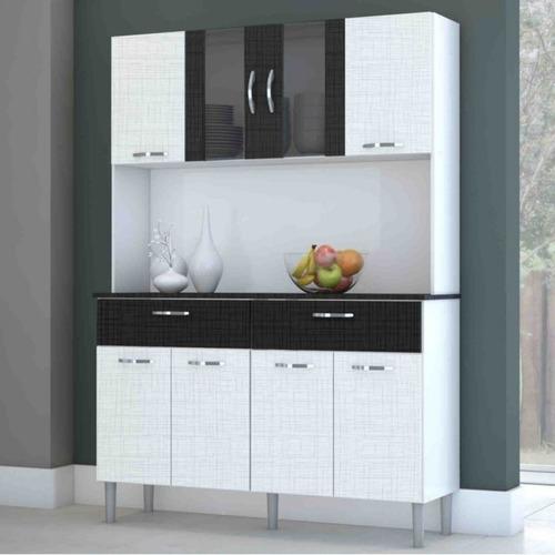 armário de cozinha 8 portas 2 gavetas pan kits paraná b