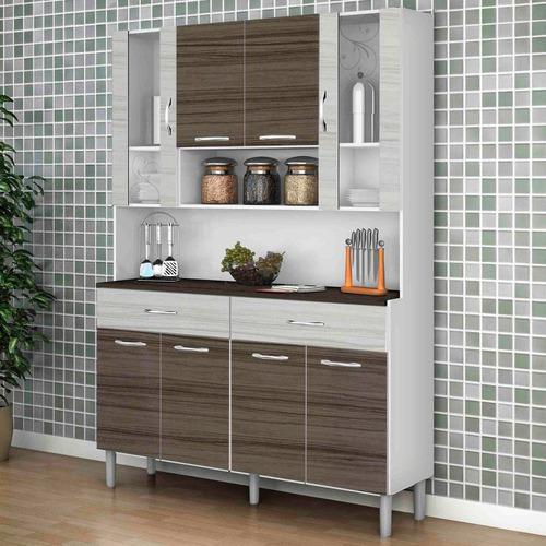 armário de cozinha 8 portas golden kit's paraná bran ej