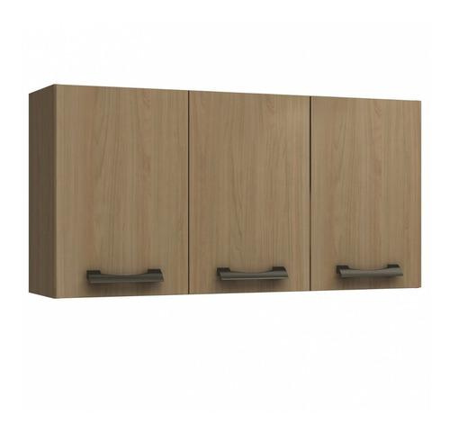 armário de cozinha aéreo 3 portas 2 prateleiras d736 ff