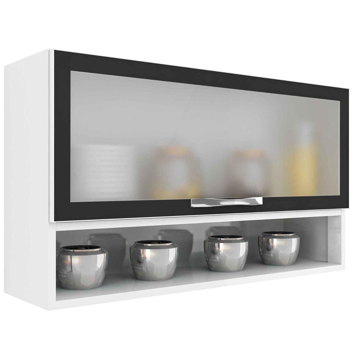 Aparador Embaixo Da Tv ~ Armário De Cozinha Aéreo Em Aço Casa Mob 1 Porta De Vidro R$ 319,89 em Mercado Livre