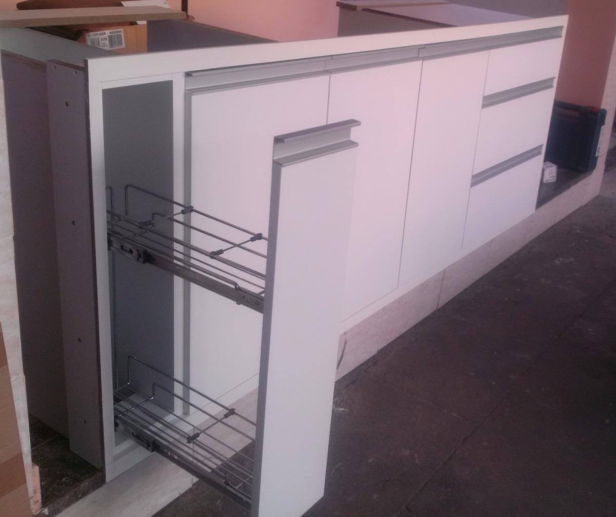 Armário De Cozinha Embutir Sob A Pia R$ 1.850 00 em Mercado Livre #7C4F52 1200x1007 Armario Banheiro De Embutir