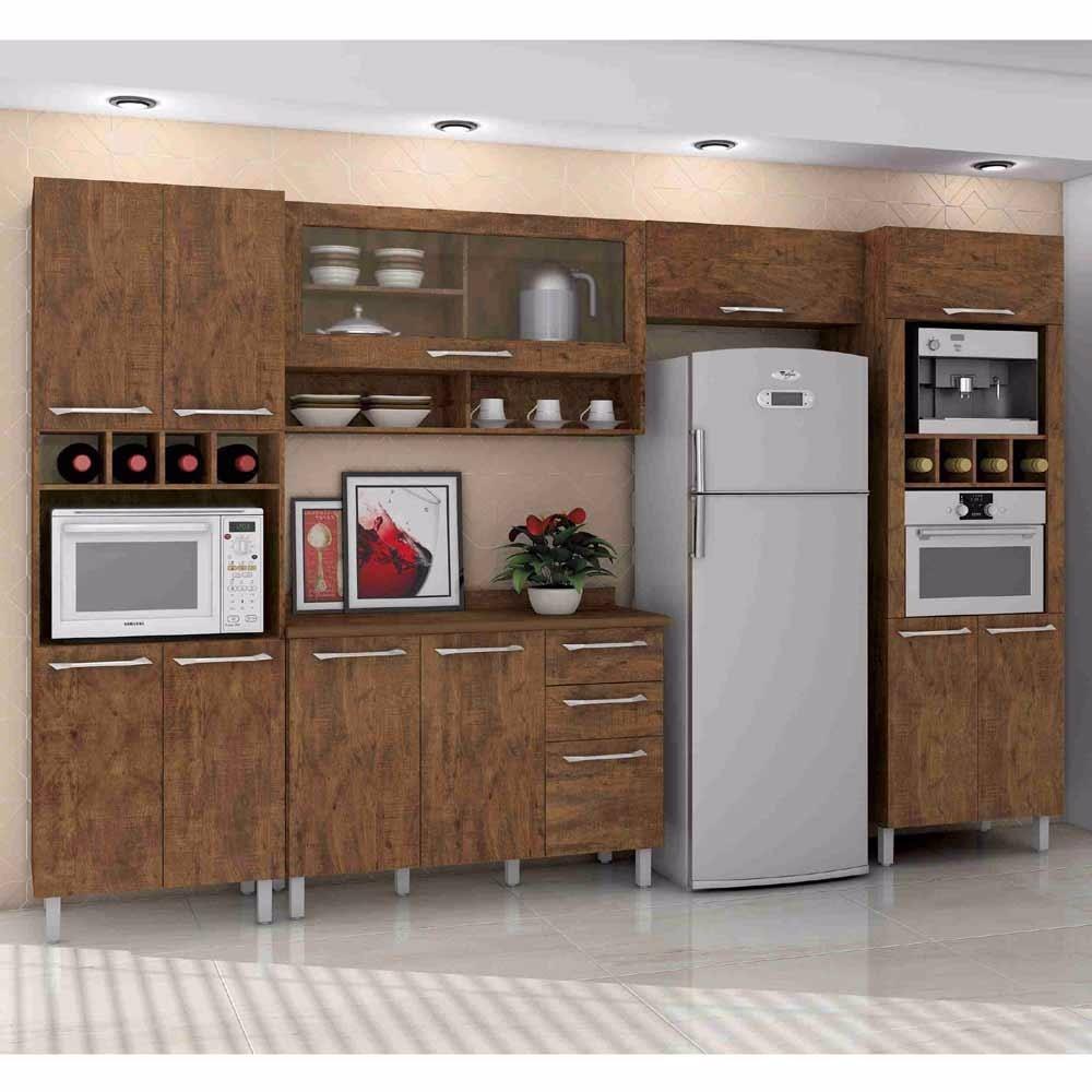 Arm rio de cozinha guaruj com balc o e dois paneleiros - Como hacer puertas de armario ...