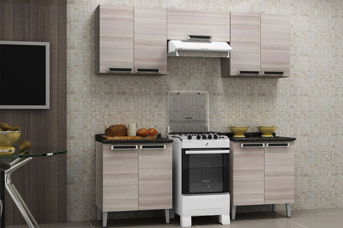 armário de cozinha itatiaia jazz madeira 1 porta horizontal