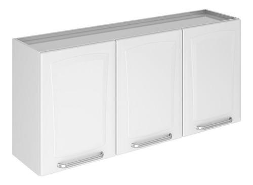 armário de cozinha itatiaia tarsila 3portas aço aéreo branco