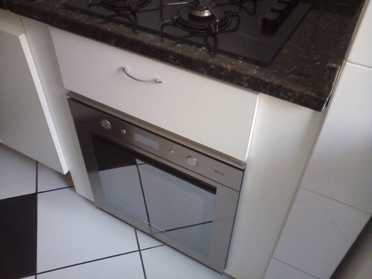 Armário De Cozinha Mdf Para Imbutir Forno Elétrico E Cooktop  R$