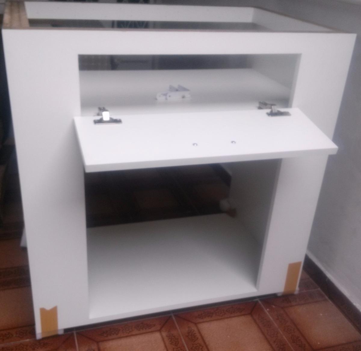 Armário De Cozinha Mdf Para Imbutir Forno Elétrico E Cooktop R$  #683B30 1200x1167
