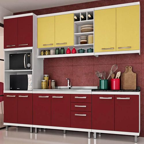armário de cozinha modulada 7 peças verônica