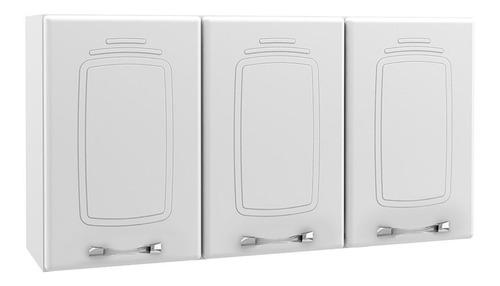 armário de cozinha telasul aéreo novitá de aço c/ 3 portas
