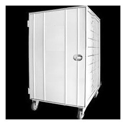armário de crescimento pão frances vazio para 10 assadeiras