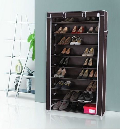 Armario de zapatos organiza 45 pares 9 niveles 160x88x29 for Armario para zapatos