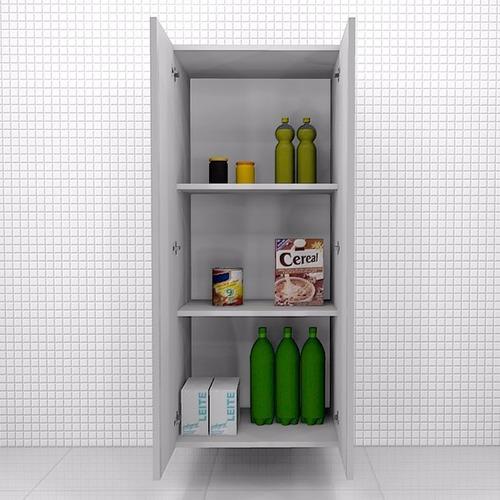 armário despensa, 2 portas, 1,37x0,60x0,35m, mdf 18mm