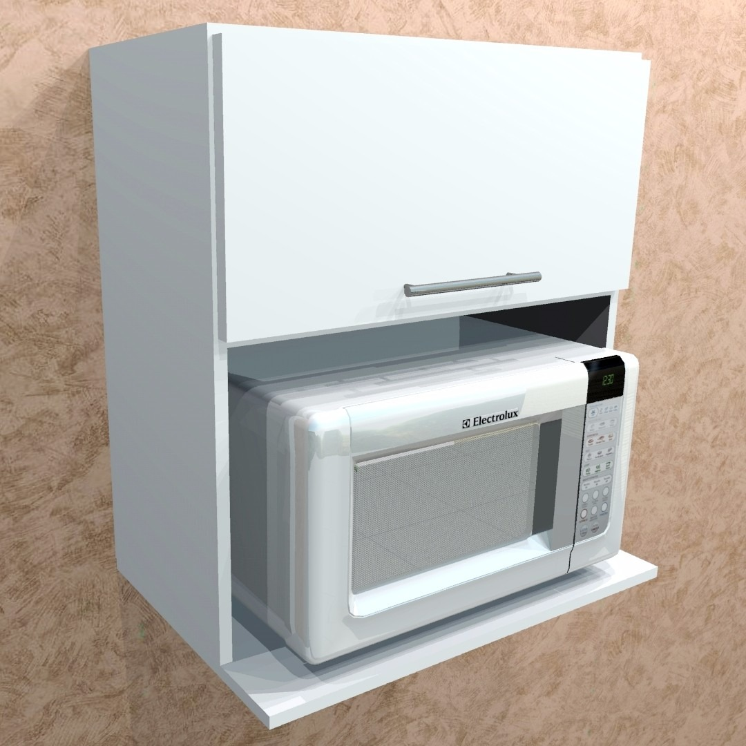 Arm rio e suporte para microondas 100 mdf branco r - Armario para microondas ...