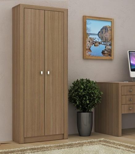armario escritório madeira multiuso livreiro c/ portas me 05