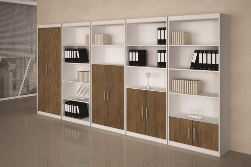 armário estante 5 módulos cportas madri - benetil móveis x
