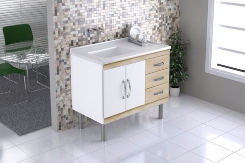 Armário Gabinete Cozinha 100m Aj Rorato Aya Beijing  R$ 269,90 em Mercado L -> Gabinete De Banheiro Aj Rorato
