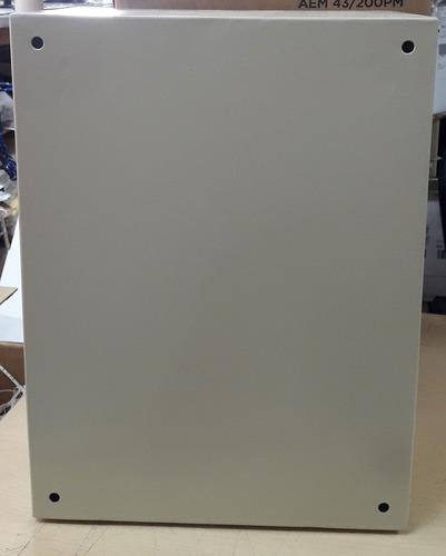 armario gabinete metálico placa de montaje 40x30x20 argos