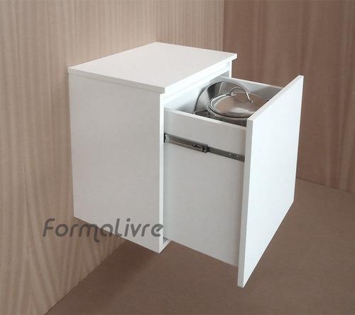 armário gavetão multiuso banheiro área de serviço branco