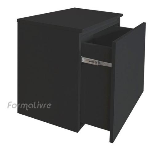 armário gavetão organizador multiuso banheiro cozinha preto
