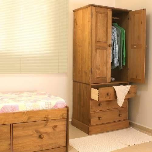 armário guarda roupa, madeira maciça, cera antique ct383