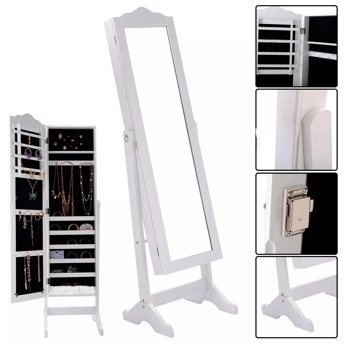 Armario Joyero Con Espejo Organizador Blanco - $ 3,400.00 en Mercado ...