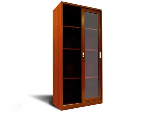 armario metálico simil madera de puertas corredizas