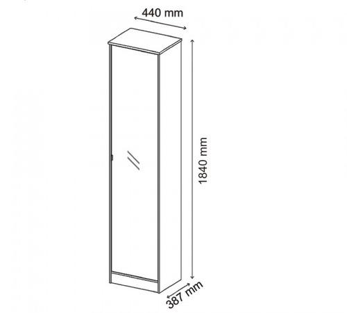 armário multiuso 1 porta reflex demóbile branco