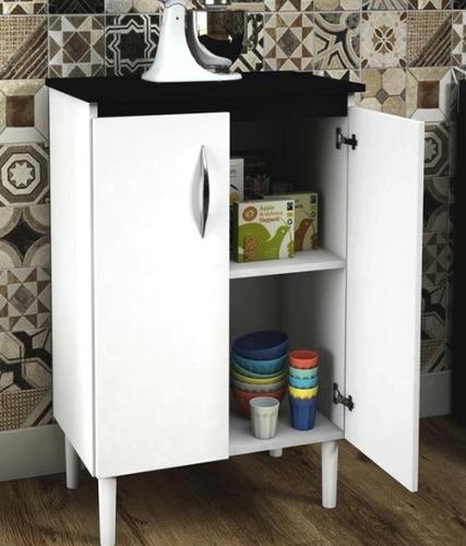 armário multiuso 2 portas branco cozinha lavanderia