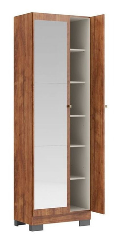 armário multiuso carraro 547 com pé c/espelho branco