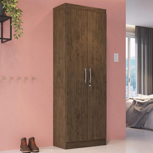 armário multiuso com chave 2 portas 5 prateleiras he