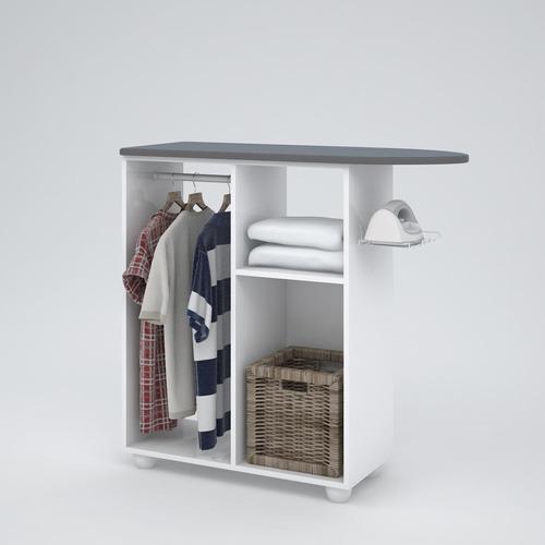 armário multiuso lavanderia - linho branco - kits paraná