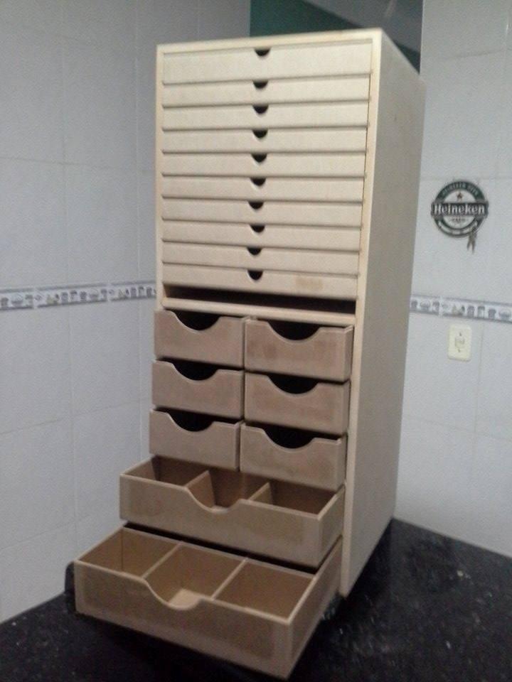 Armario organizador de folhas e materiais em mdf cru r - Organizador armarios ...