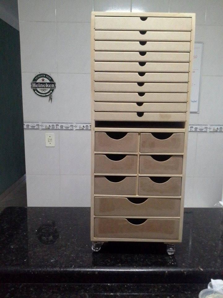 Armario organizador de folhas e materiais em mdf cru r - Organizador armario ...