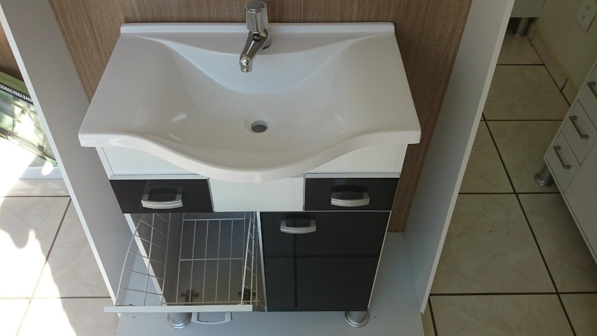 Gabinete  Armário Para Banheiro Florença  R$ 399,90 em Mercado Livre -> Armario De Banheiro Com Cuba Mercado Livre