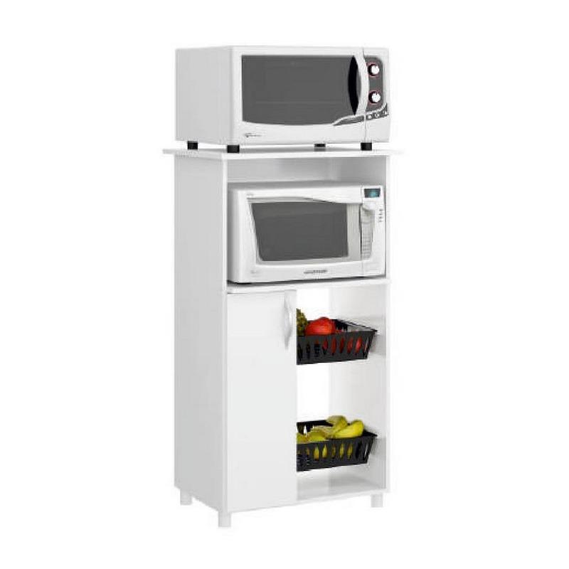 Armario para cocina ideal para el microondas con canastos - Armario para microondas ...